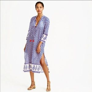 J.Crew Mixed Paisley Tunic Cover-up